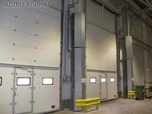 Тепловые завесы для производственных цехов
